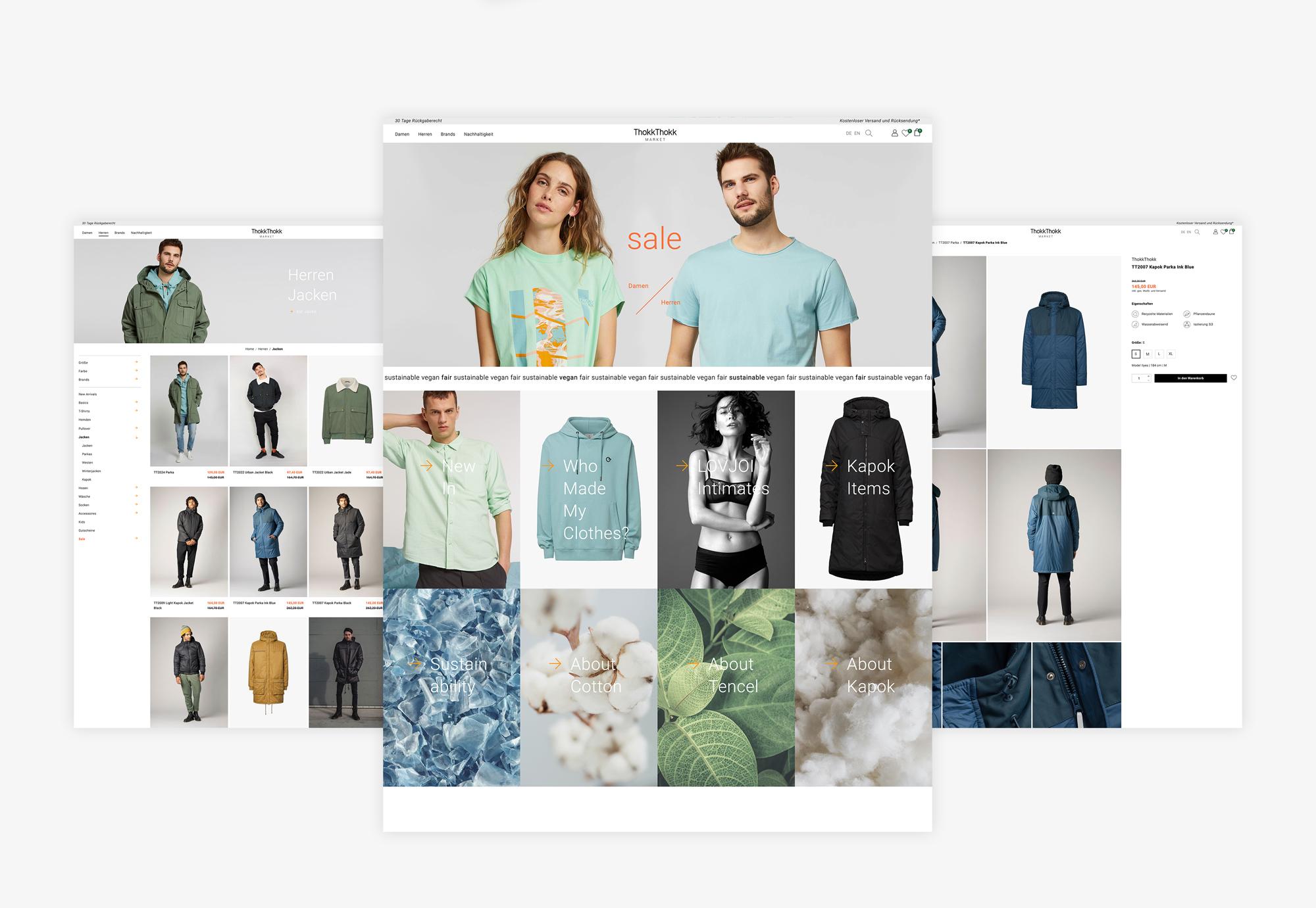 Redesign ThokkThokk Market Ecommerce Shop