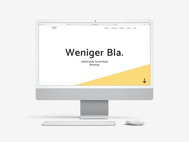 weniger bla Website