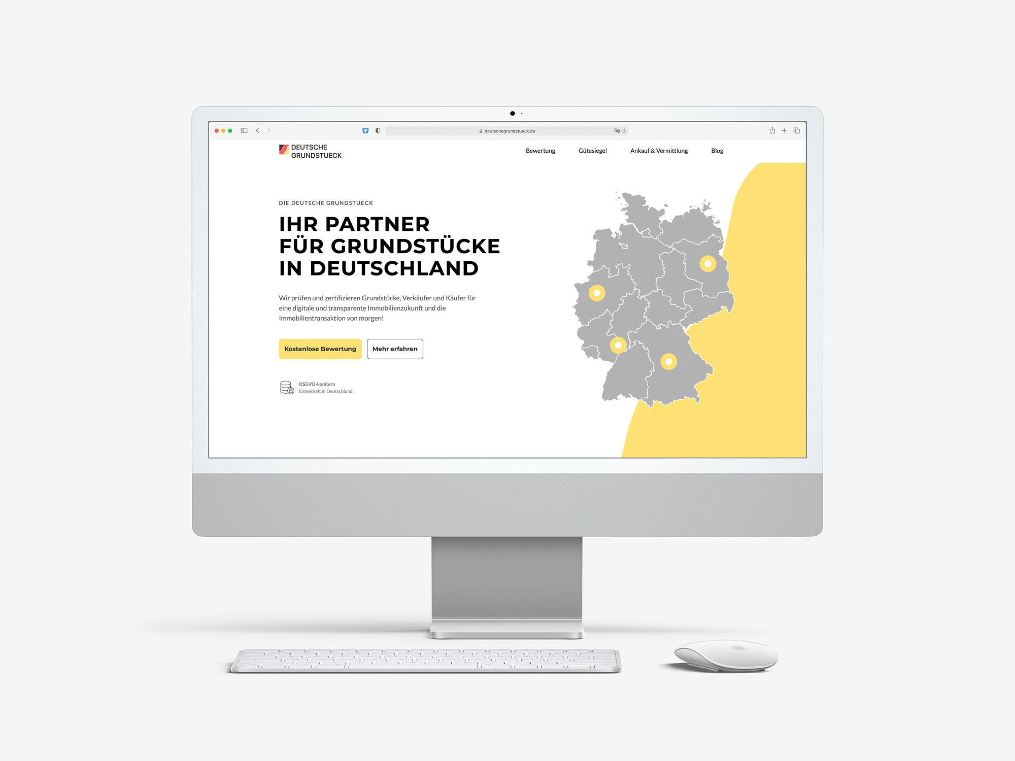 Deutsche Grundstück Website