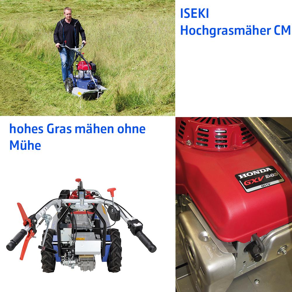 ISEKI Hochgrasmäher CM55 und CM65