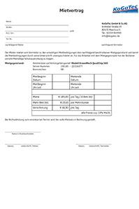 Mietvertrag Holzhäcksler zum Donload
