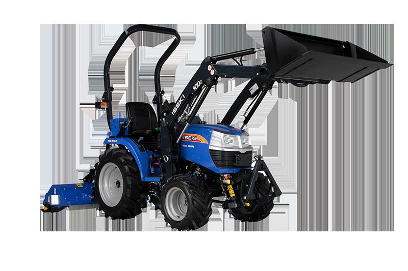 ISEKI Traktor TM 3185 Allrad mit Frontlader und Schlegelmäher