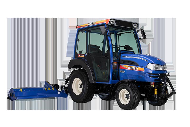 ISEKI Traktor mit Kabine und Müthing Ausleger-Schlegelmäher
