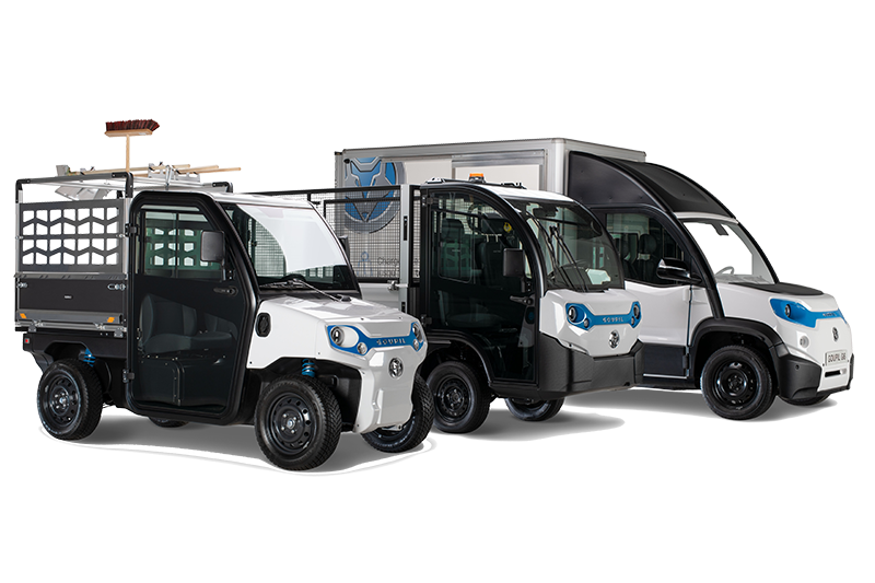 Goupil Elektro Nutzfahrzeuge G2, G4 und G5 mit vielen Aufbauoptionen