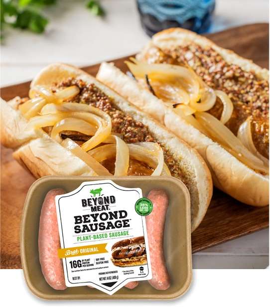 Beyond Sausage® Brat Original with Caramelized Onions