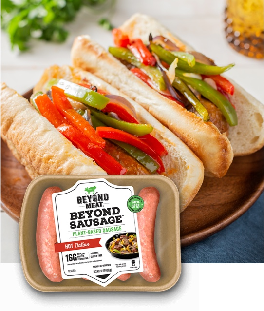 Beyond Sausage® Hot Italian with Peppers and Onions