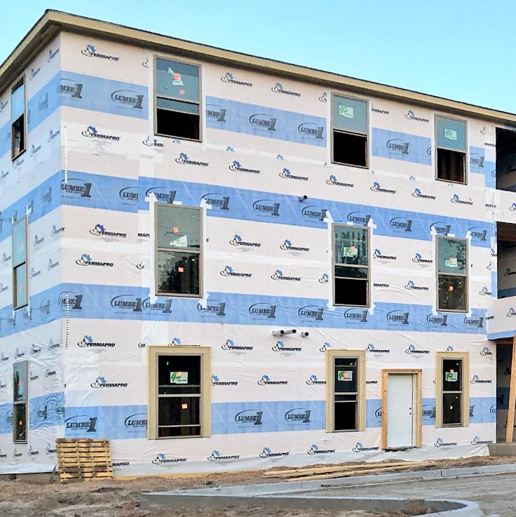 Custom Printing - Building Wraps & Roofing Underlayment
