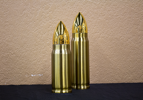 Gold 17oz and 12oz Bullet Thermos