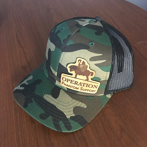 Camo with Black Mesh O.P.S. Hat