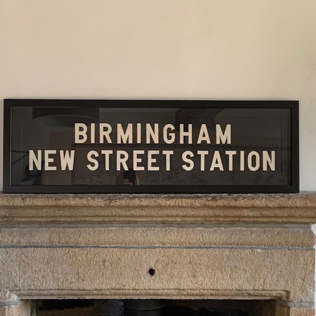 BIRMINGHAM NEW STREET STATION - Vintage Bus Blind