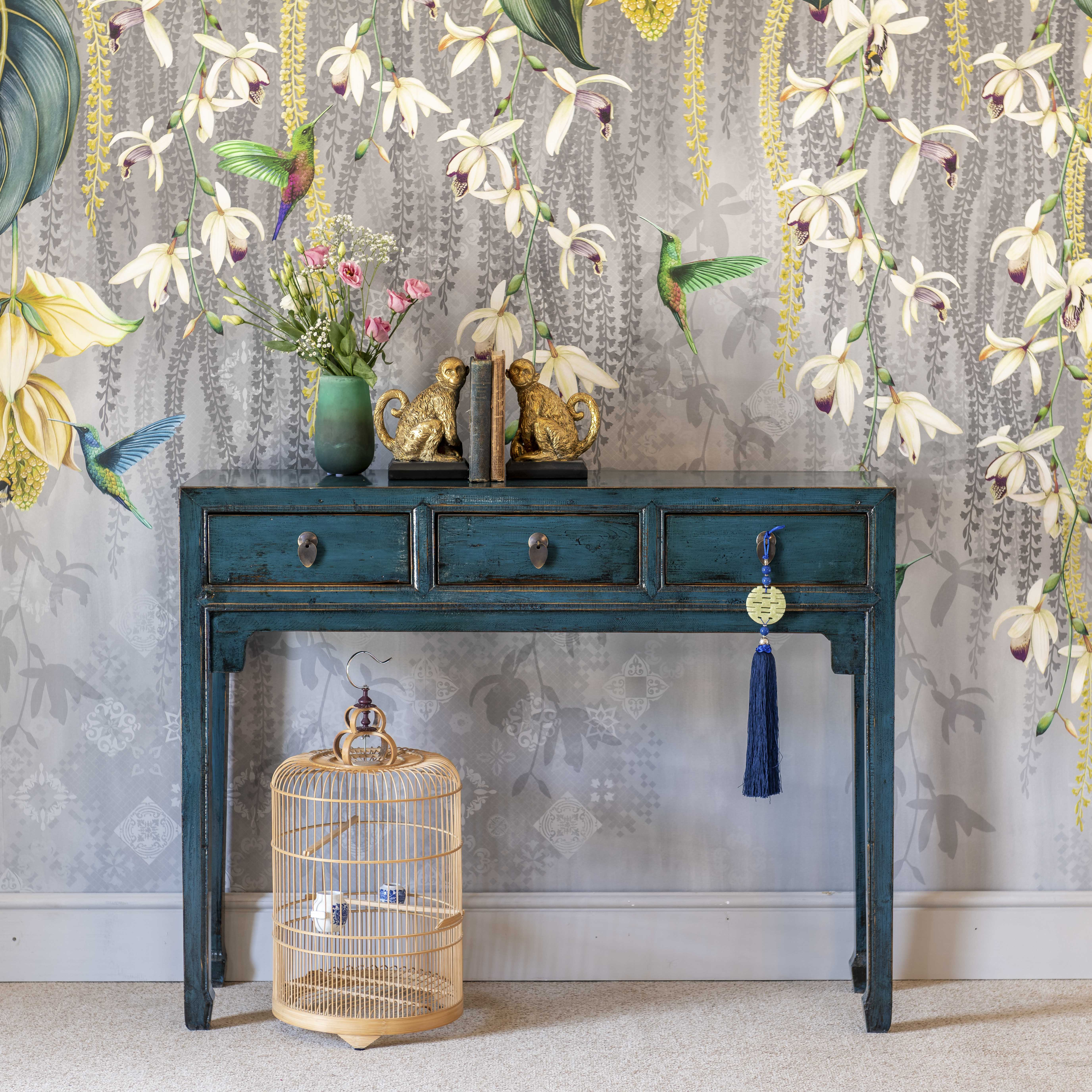 Hangzhou Teal Blue Console Table