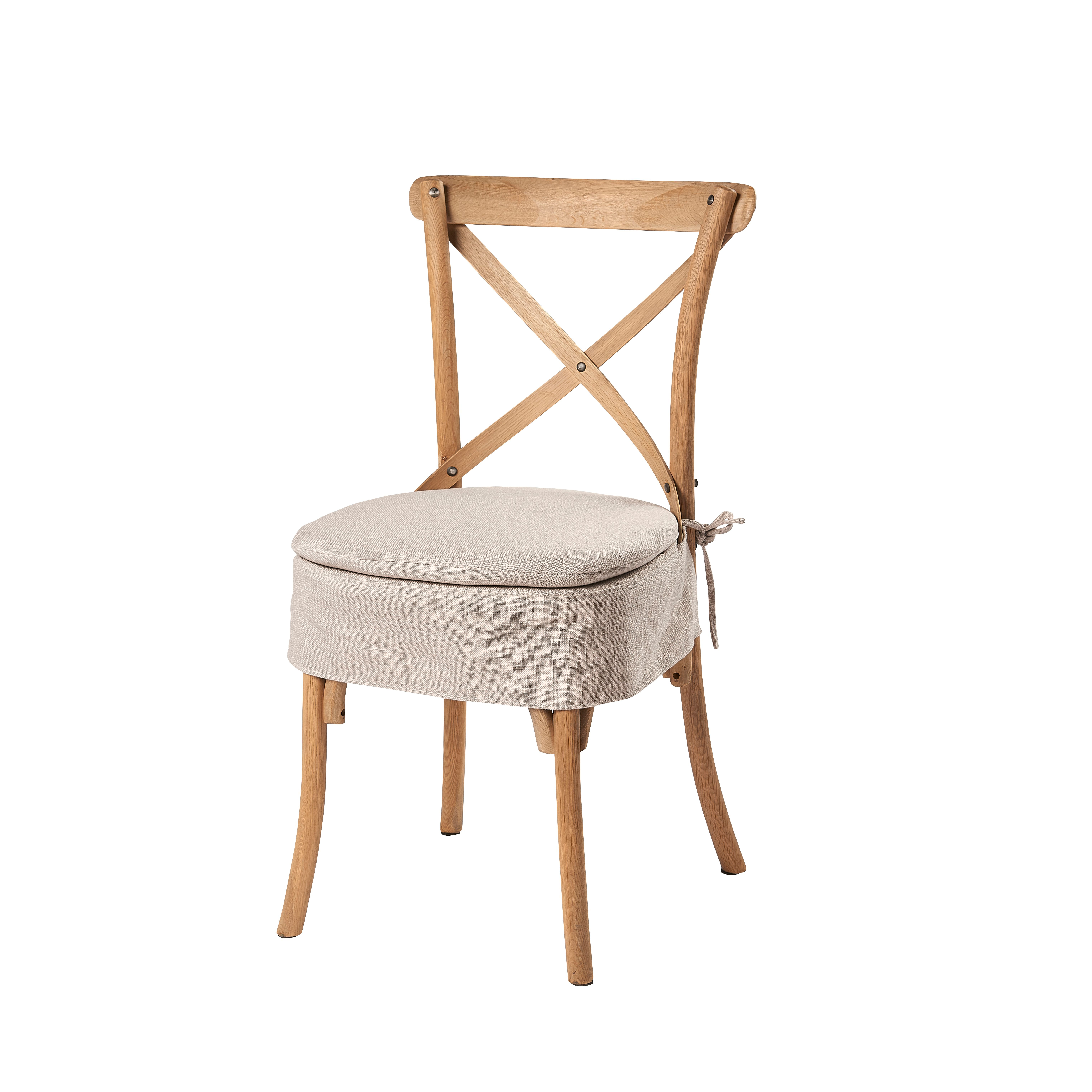 Ariello Cross Back Chair with Cream Seat Pad