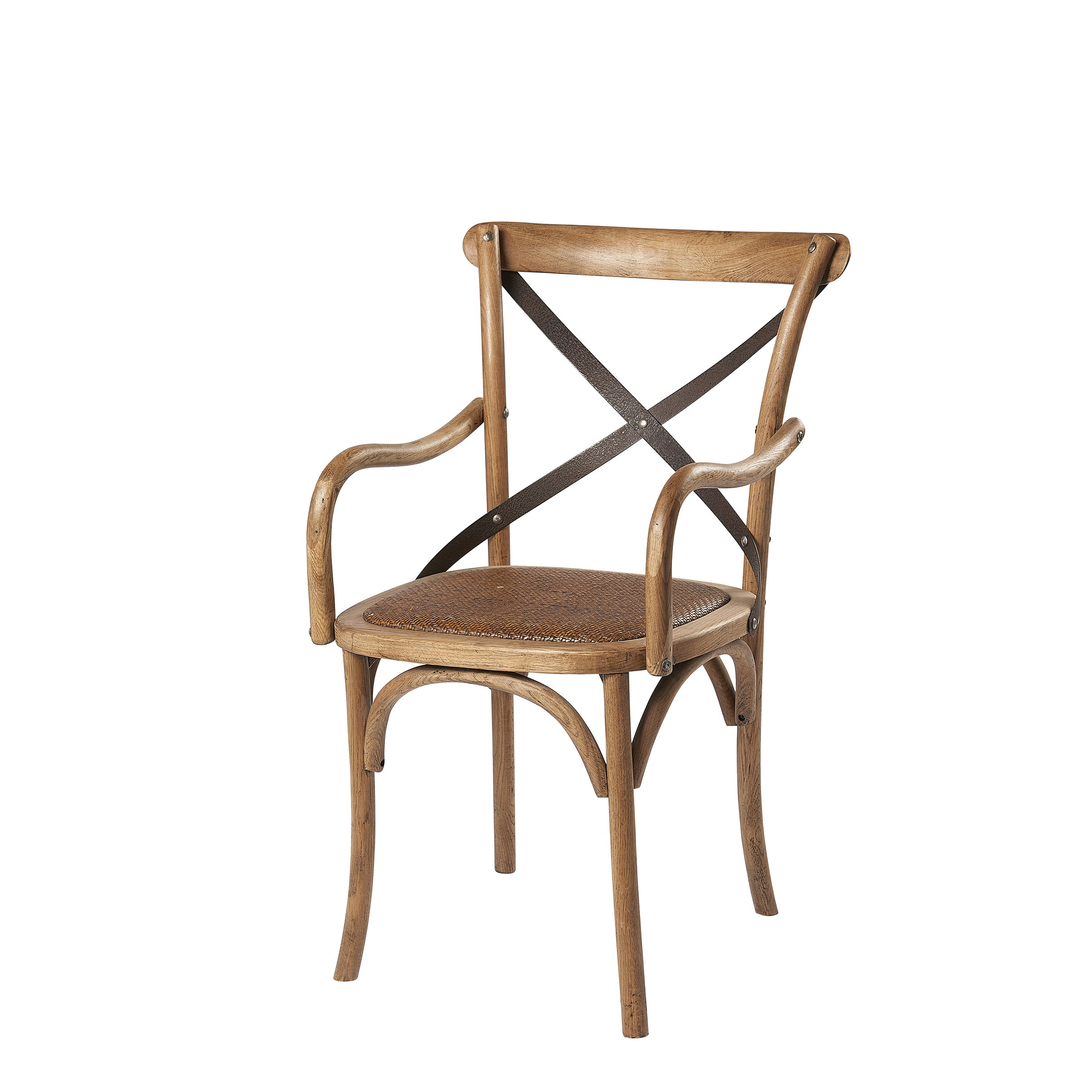 Ariello Cross Back Arm Chair