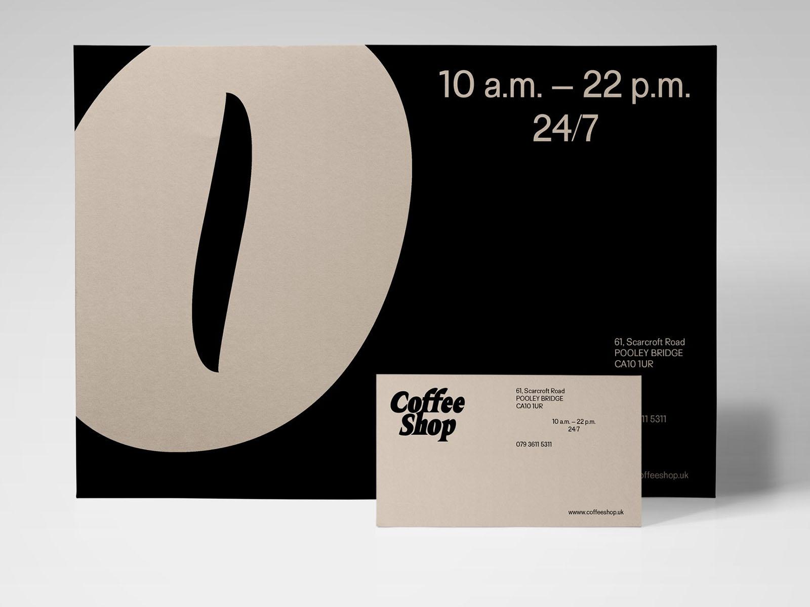 Eine an Kaffee angelehnte Schrift. Quelle: Prototypo / Lucas Murat