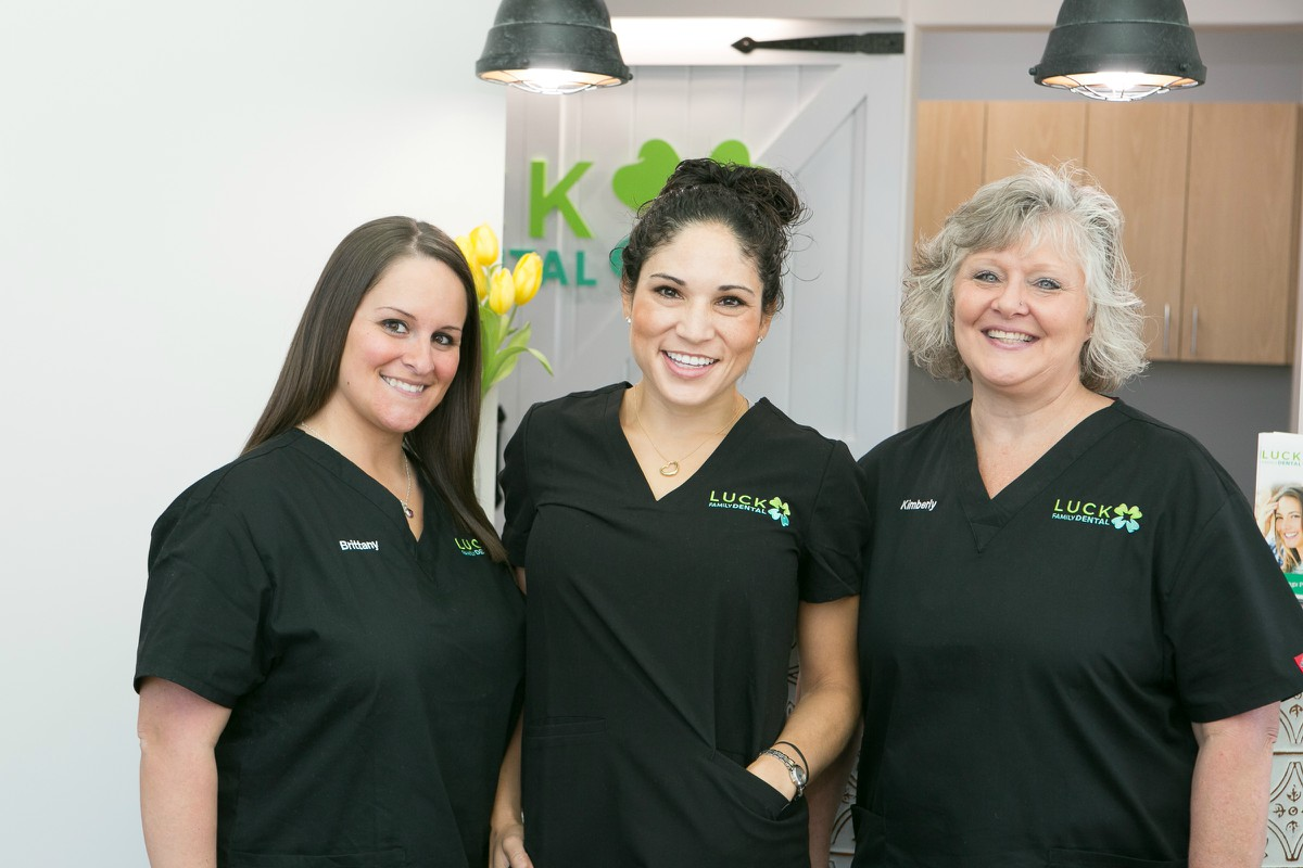 Staff at Luck Family Dental
