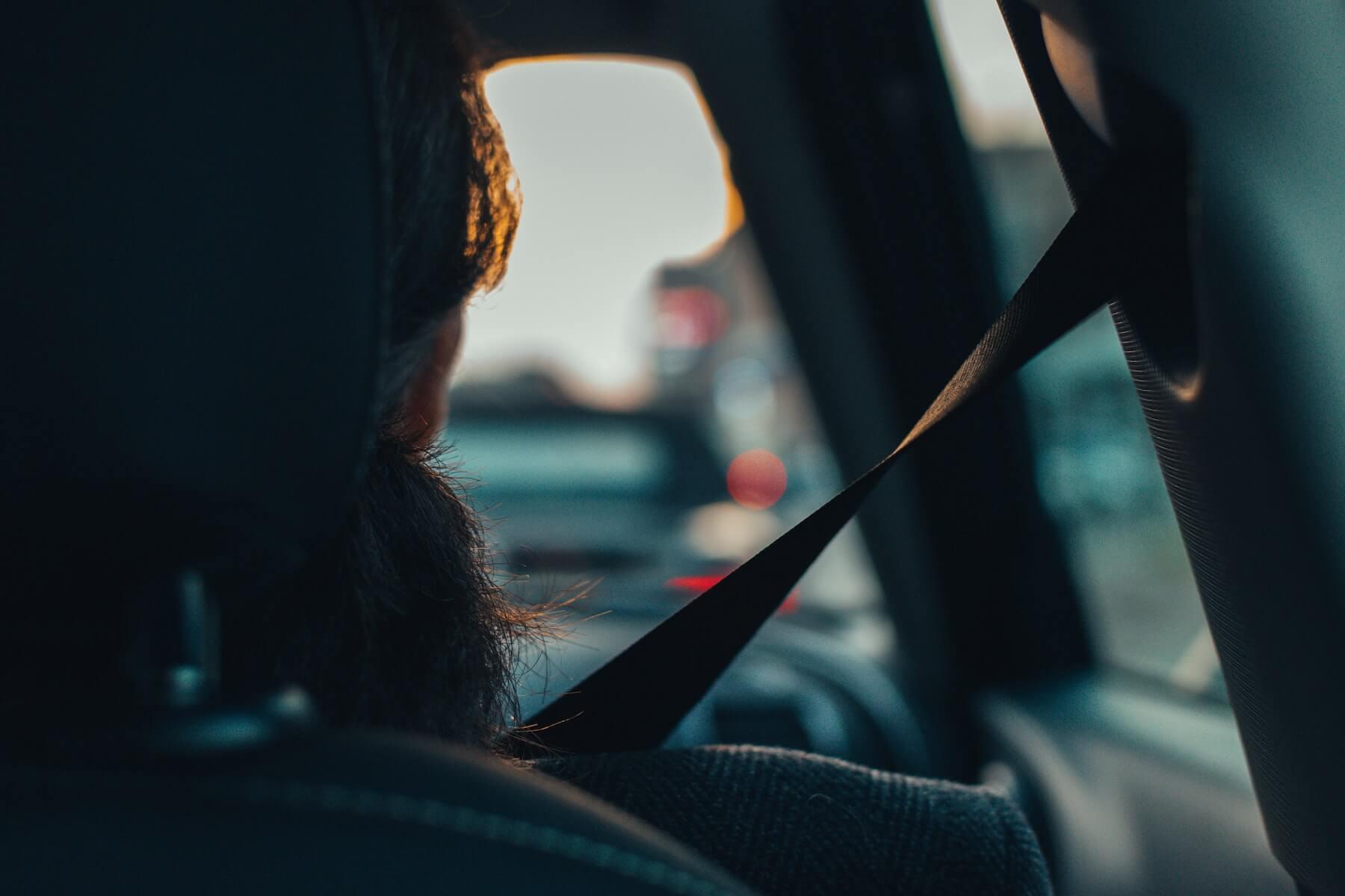 Passenger in Car Image