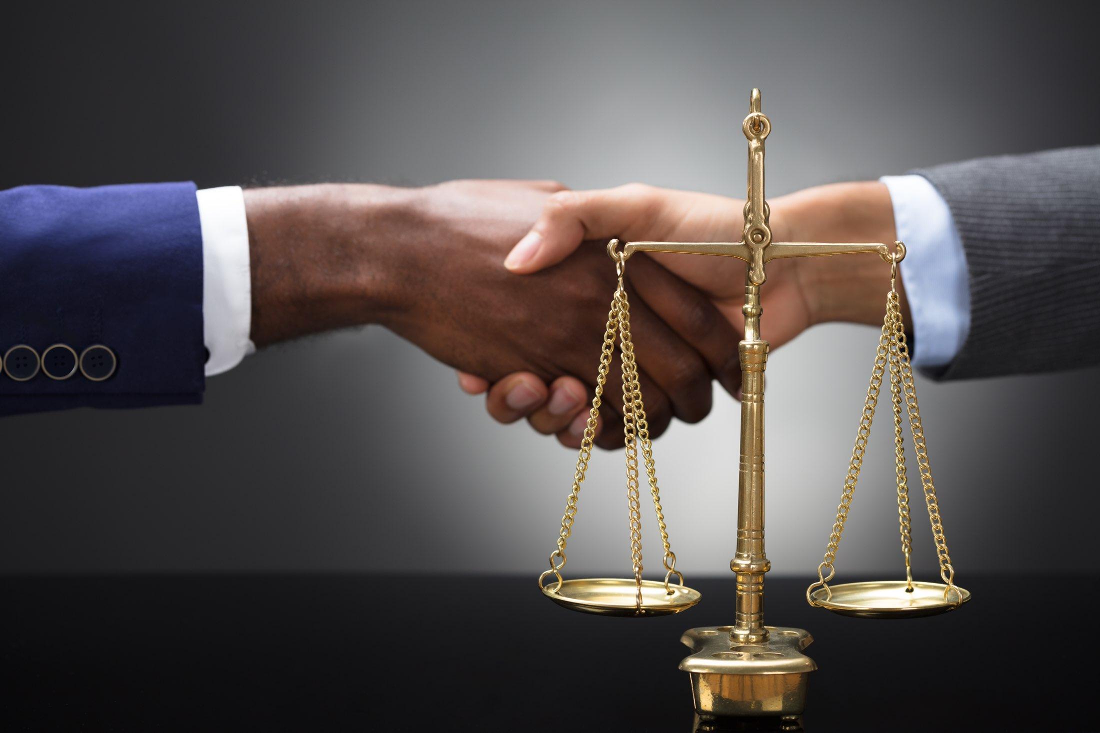 legal consultant handshake