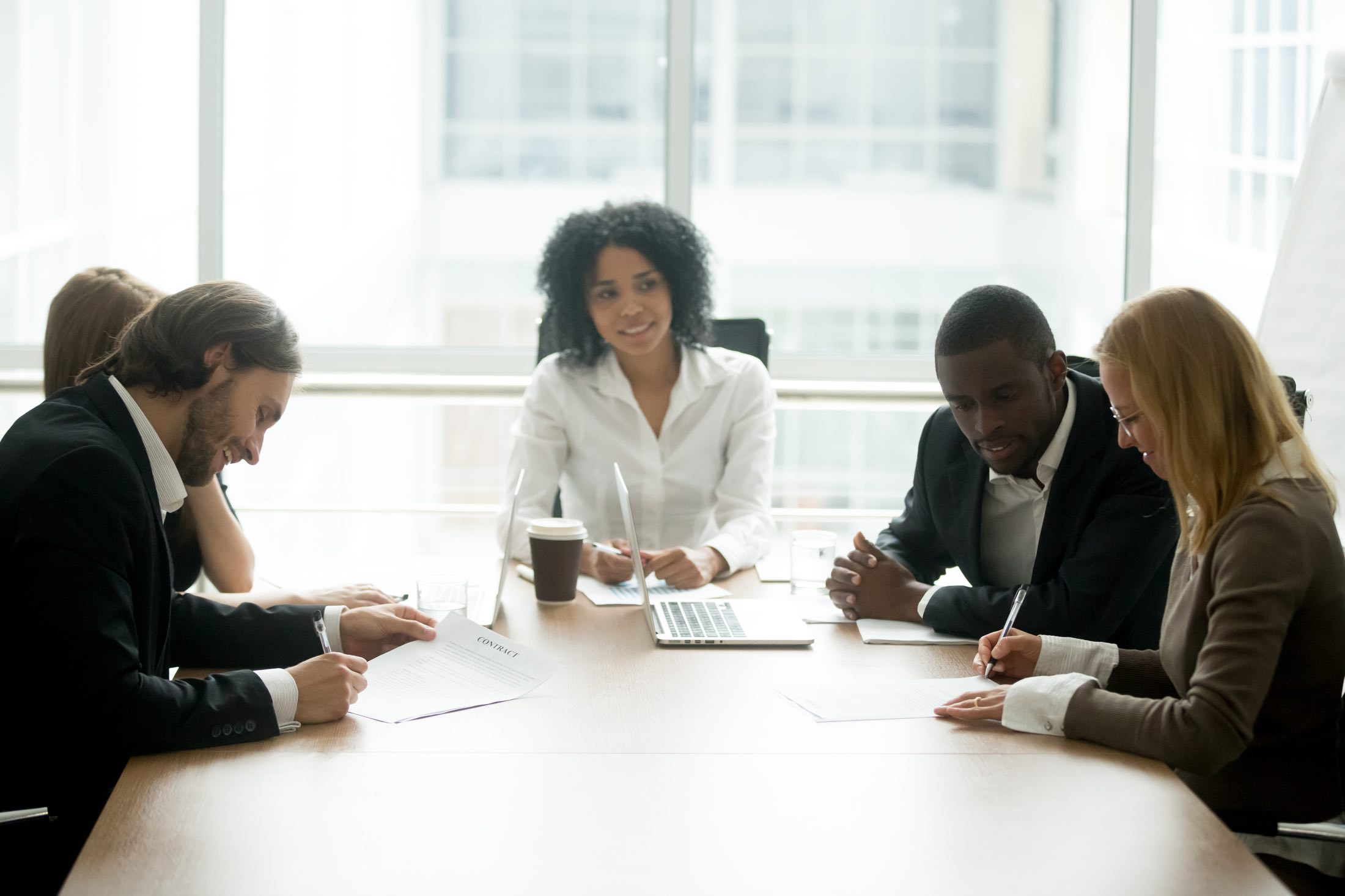 legal advisors consulting with a business
