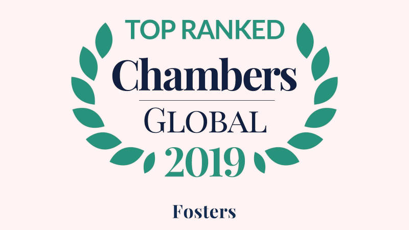 FOSTERS ranked in Band 1 by Chambers and Partners Global