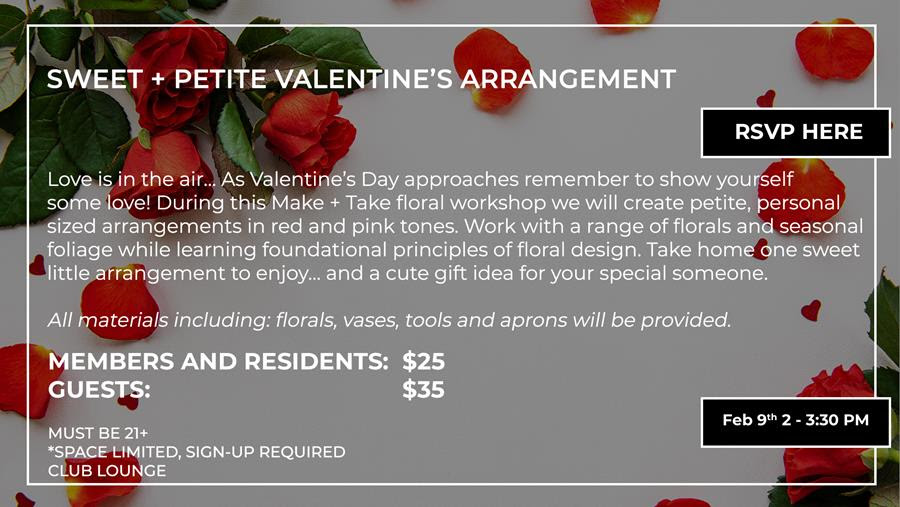 Sweet + Petite: Valentine's Day Floral Workshop