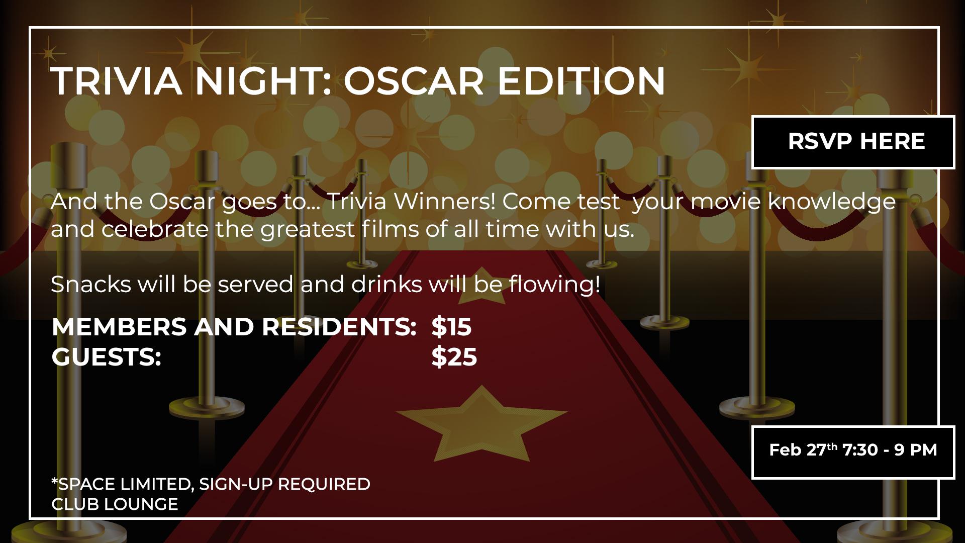 Trivia Night - Mercedes Club - Oscar Edition