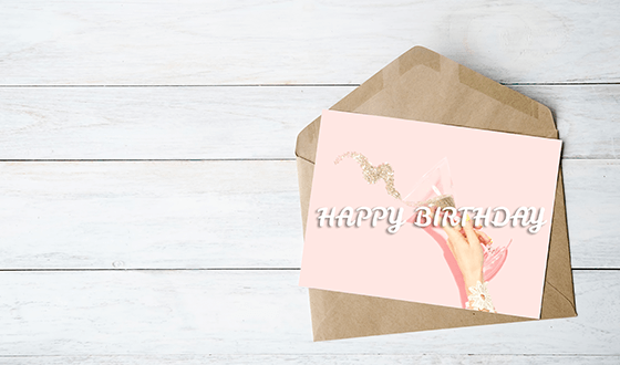 Picture of a birthday card