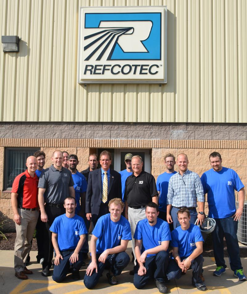 Congressman Jim Renacci Visits Refcotec In Orrville Ohio