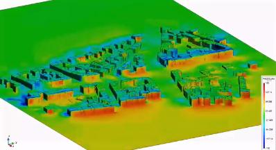 [ESG] Velocity vectors flow large city
