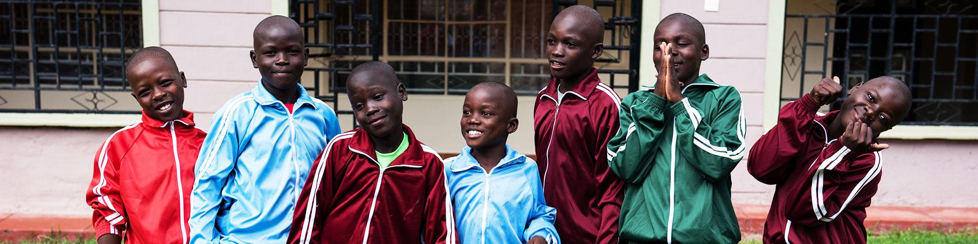 Boys of the Reach International Children's Center Bungoma Kenya