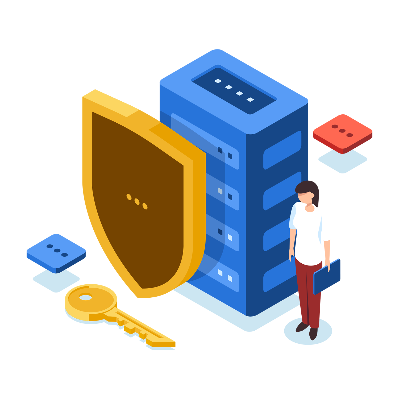 IT Sicherheit - ein Schutzschild für Server und digitale Daten