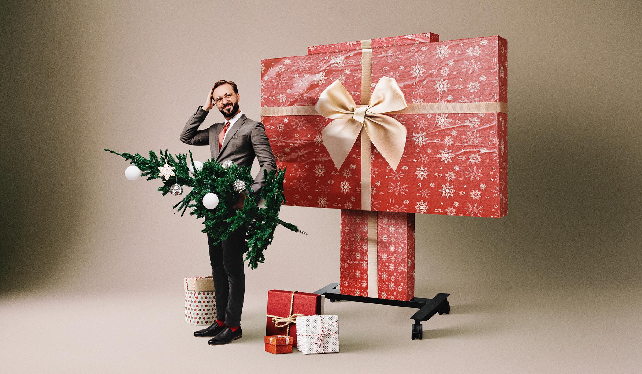 Interaktive Präsentationstechnik verpackt als Geschenk zu Weihnachten?