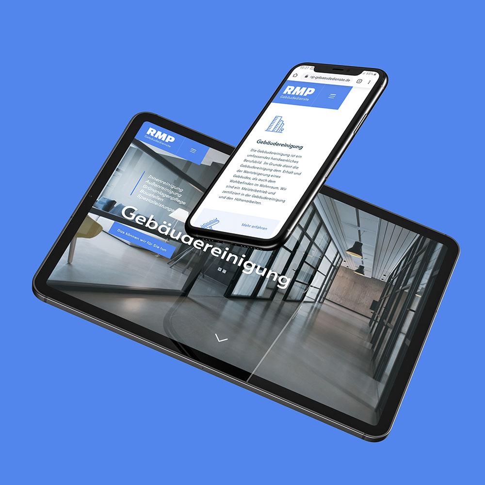 Responsives Webdesign auf Tablet und Smartphone