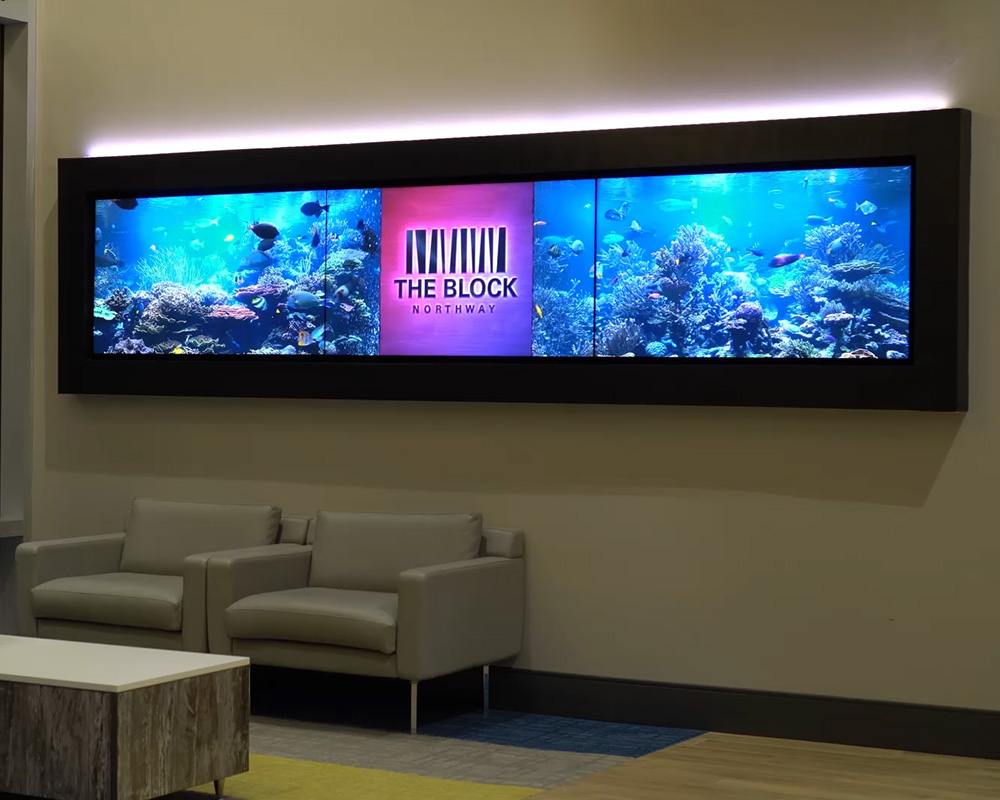 W Series Player Video Wall Signage Example