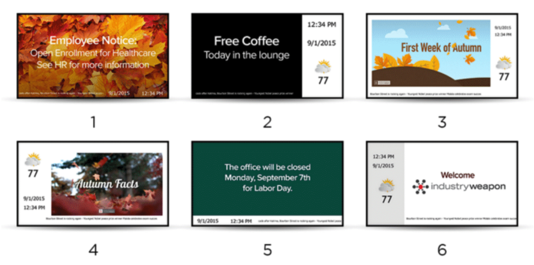 Digital Signage Content Design Repetition