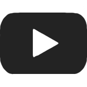 black youtube icon with link to store page