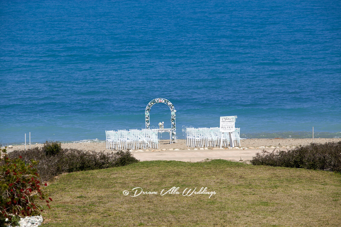 marriage ceremony on the beach in paphos