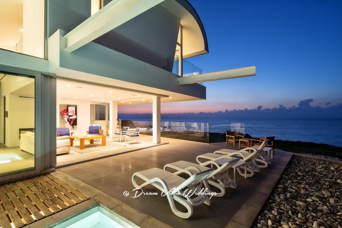 stunning modern sea front wedding villa