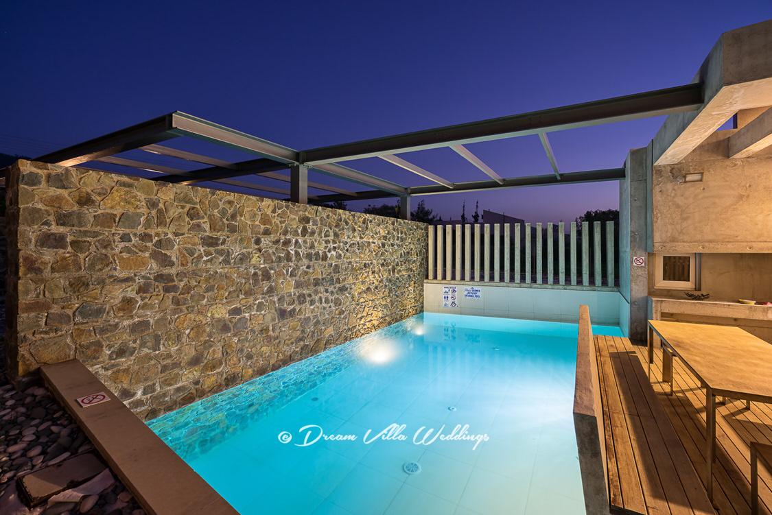 sea front wedding villa with private pool