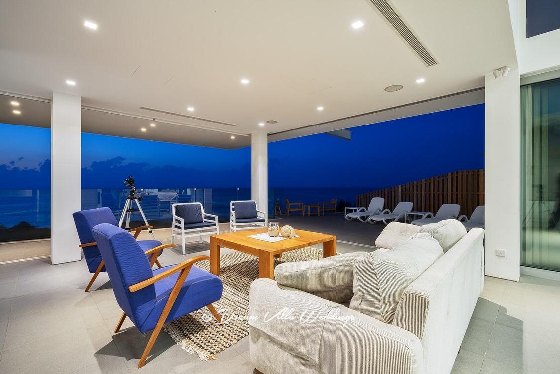 ultra-modern sea front wedding villa