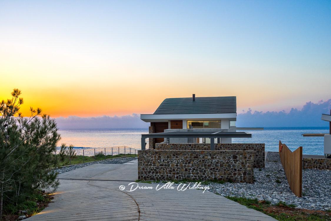wedding villa with sea view backdrop
