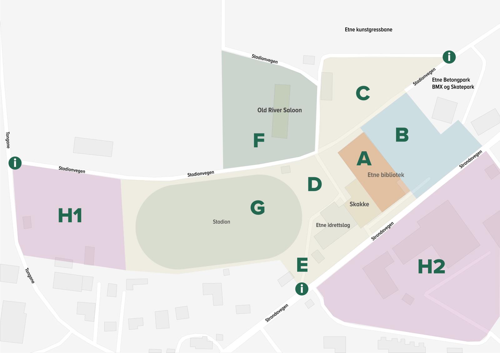 Kart over utstillar område