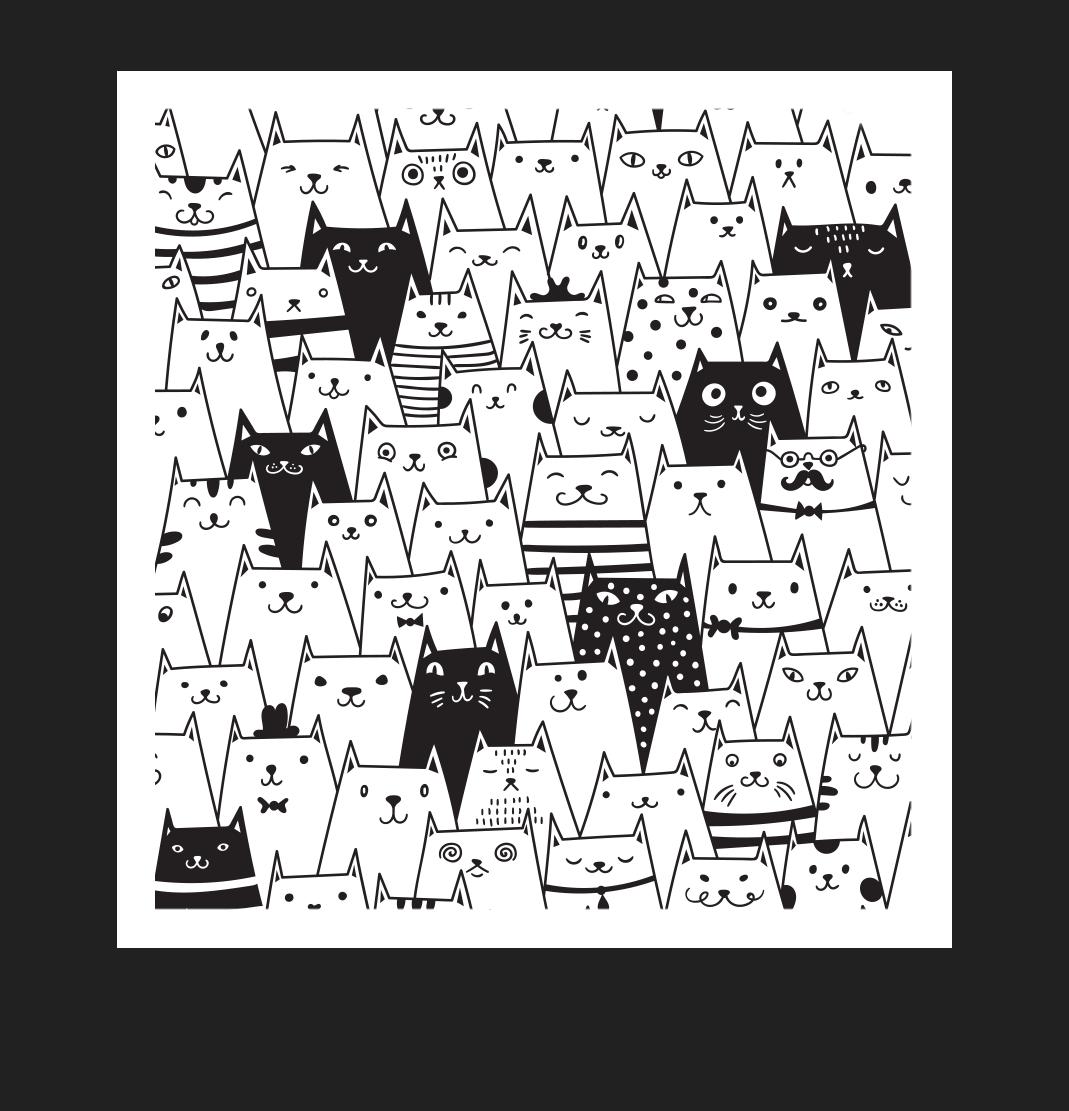 Copywriting Services Cat Illustration