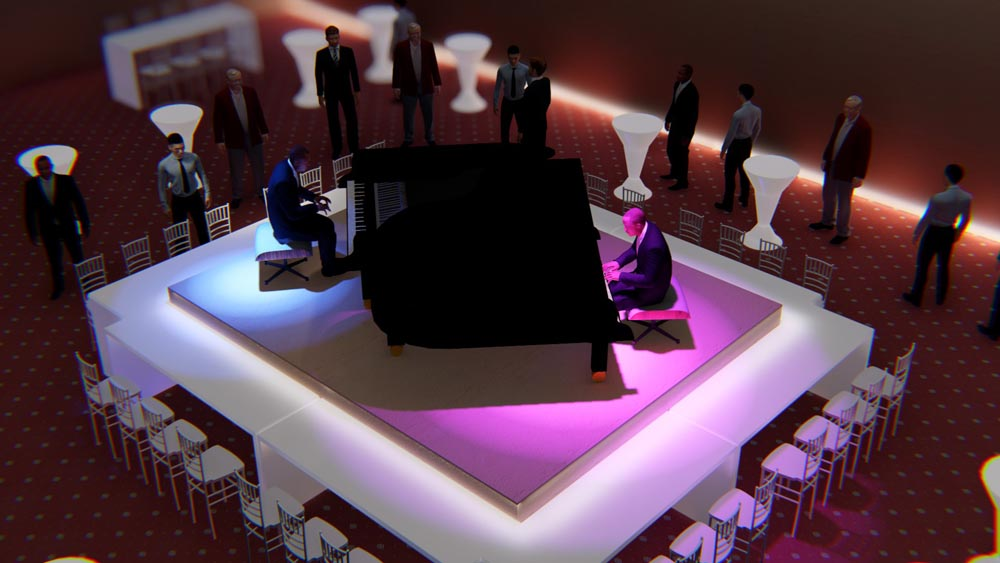 Piano Concert Event 3D Render