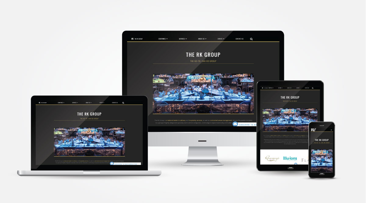 Responsive RK Group Web page