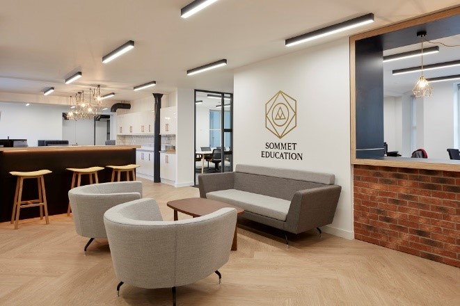 Office design for brand identity. An office space that captures the feeling of a brand.