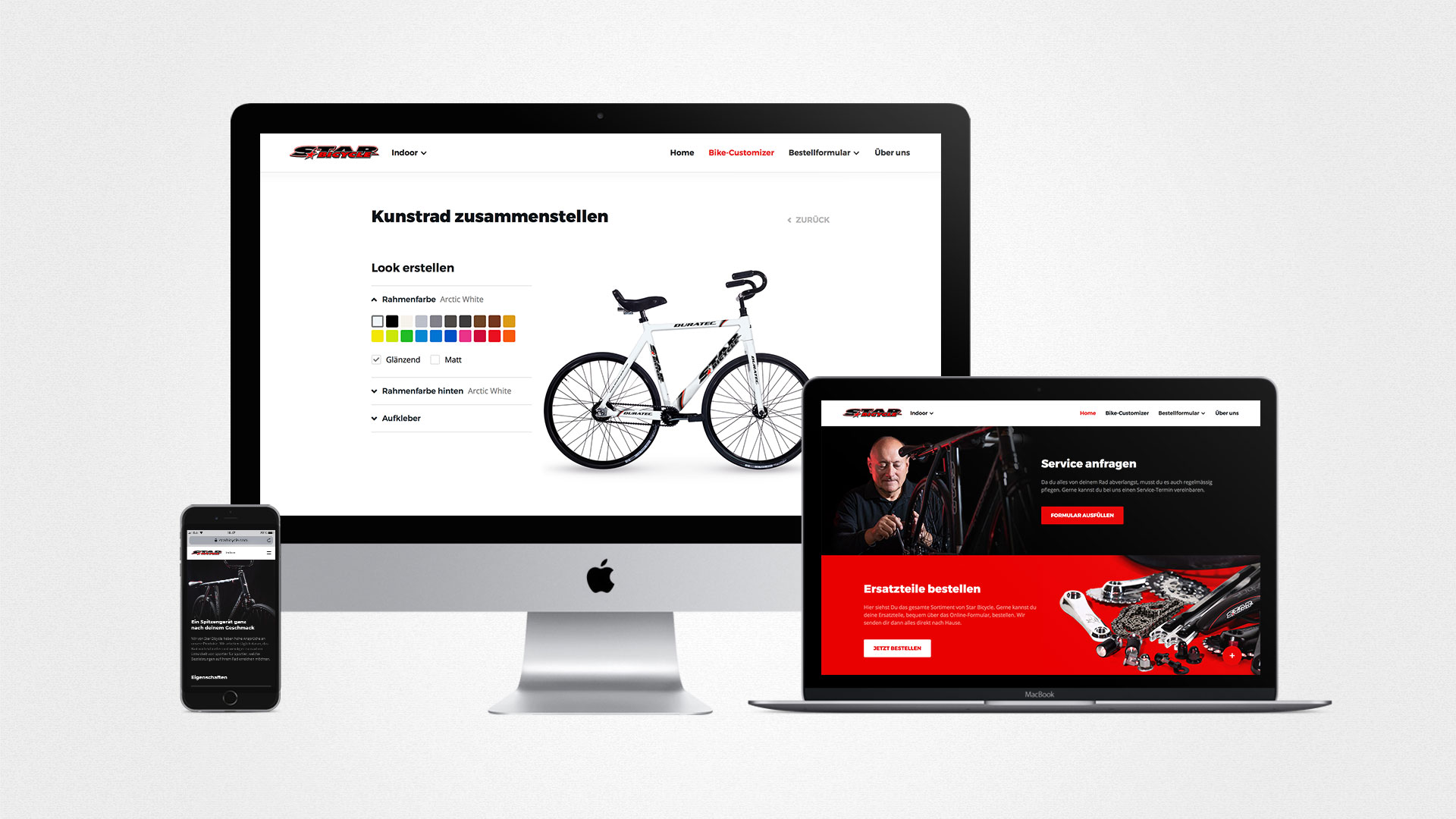 Starbicycle Homepage by ESE Media