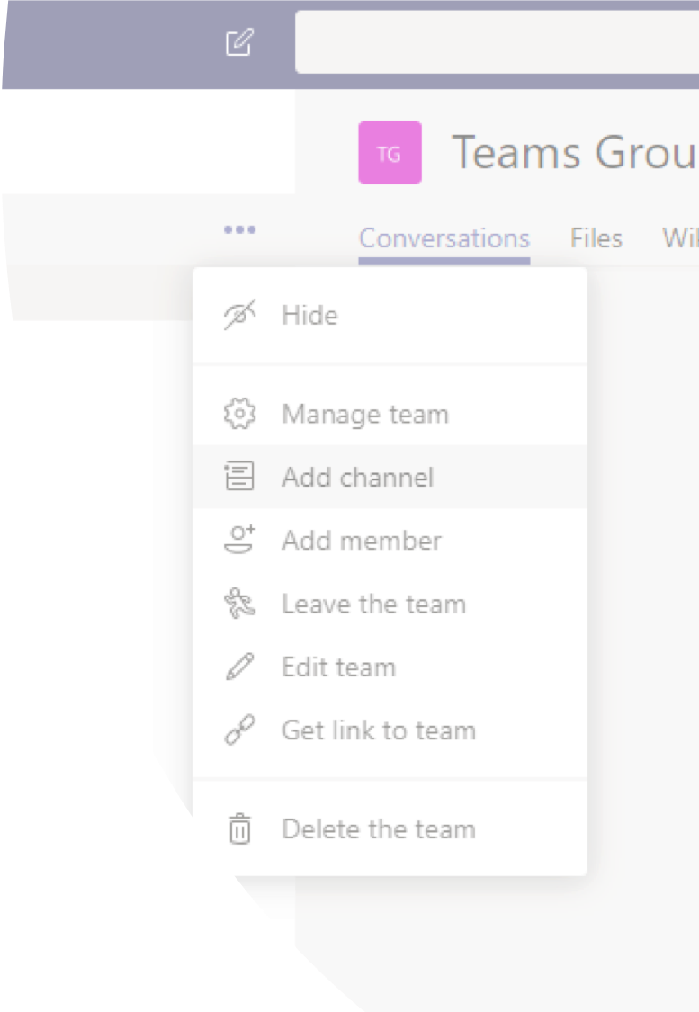 microsoft teams navigation and channels