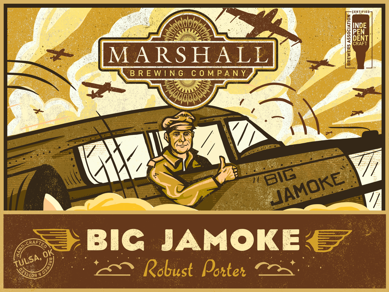 Big Jamoke Porter Label