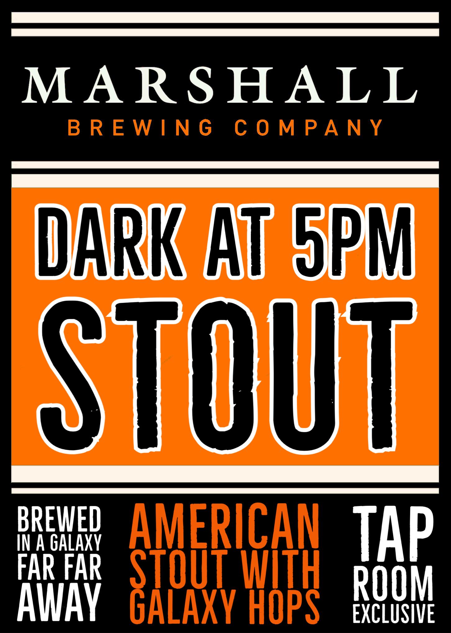 Dark at 5pm Stout