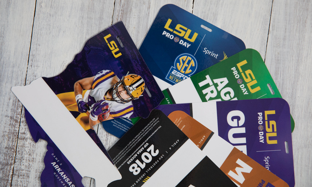 Letterpress LSU Game Passes